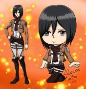 Fantagian Mikasa Ackerman (Attack on Titan)