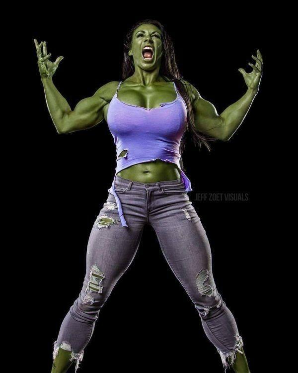 She Hulk muscling out