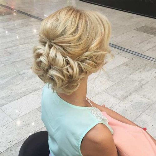 Classy and Formal Up-Do-Hairstyles For Square Faces