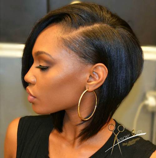 Slick Black Bob - Bob Hairstyles For Black Women