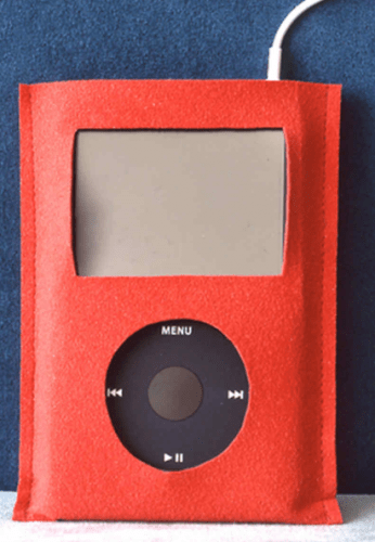 Suede iPod Case - romantic diy gift ideas