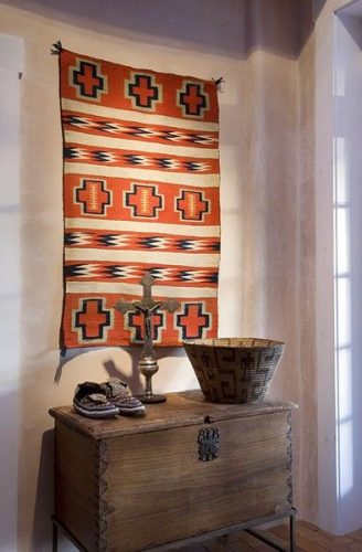 Carpets as wall hangings - creative gallery wall ideas