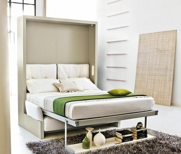 Folding bed for small rooms