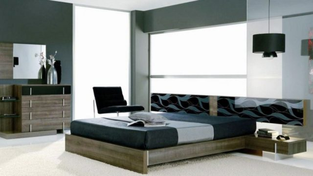 Simple yet stylish - modern contemporary masculine bedroom