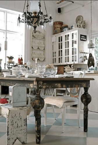 The vintage style - fall decorating ideas