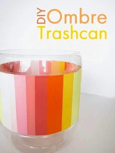Ombre Trash Can