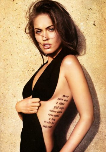 Megan Fox - celebrities with sexiest tattoos