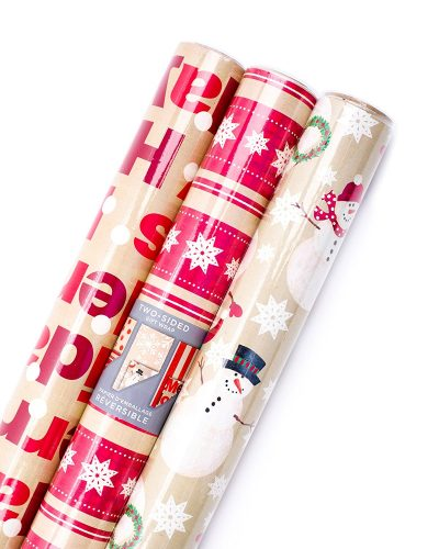 Hallmark Christmas Reversible Wrapping Paper