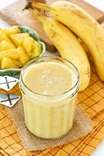 Pineapple & Banana Detox Smoothie - Smoothie Recipes for Quick Weight Loss