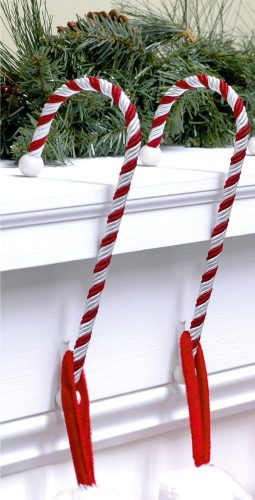 Haute Decor Candy Cane - Christmas Stocking Holders