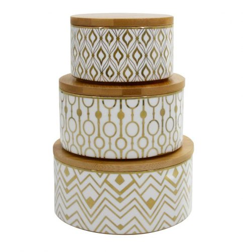 Decorative Containers Canister Set 3 - Christmas Cookie Tins