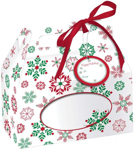 Creative Converting 4 Boxes - Christmas Cookie Tins