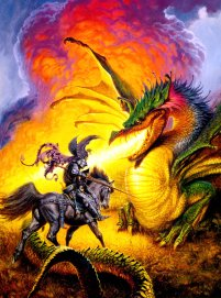 """Villains by Necessity"" Darrell K. Sweet (painting)"