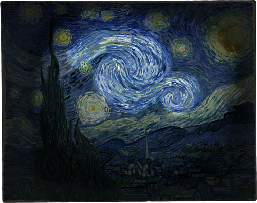 The Starry Night (whorl highlight)
