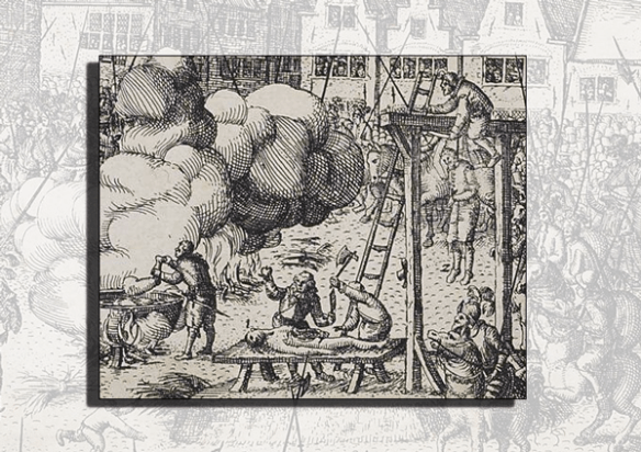 detail: the execution of Guy Fawkes engraving by Nicolaes Jansz Visscher #fantasticdrivel