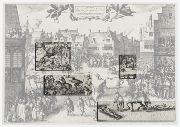 callout: the execution of Guy Fawkes engraving by Nicolaes Jansz Visscher #fantasticdrivel
