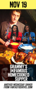Nov 19 Grammy's Infamous Homecooked Supper feat. Milli Vanilli #fantasticdrivel