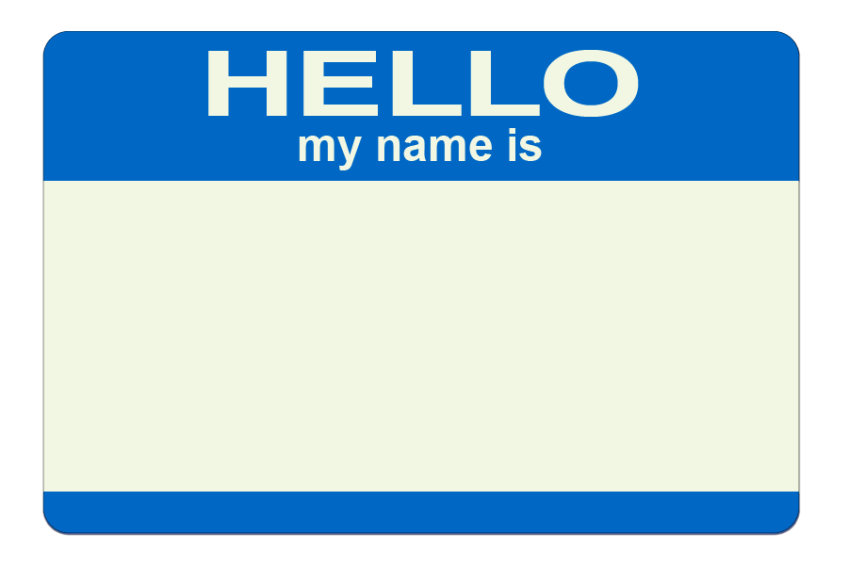 HELLO my name is blank #fantasticdrivel
