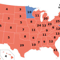 Ronald Reagan won 49 states and 525 electoral votes in the 1984 presidential election which is the most in US history.