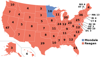 1984 Electoral College Map