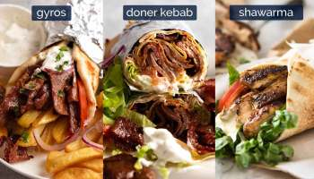 Shawarma vs Doner Kebab vs Gyros