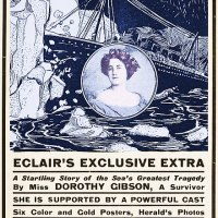 Just 29 days after the Titanic sank, a silent film was released chronicling the event. It starred Dorothy Gibson, an actress who had survived the sinking. To add to the film's authenticity, she wore the same clothes that she had worn on the night of the disaster.