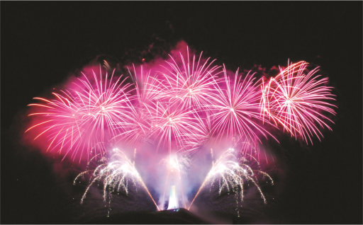 Professional Fireworks Displays | Pink Wedding Fireworks