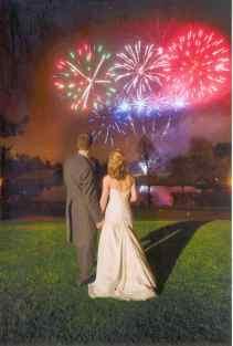 Intimate Wedding Fireworks - Marquee Firework