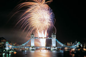 Celebrating London's first New Year's Eve fireworks