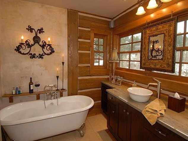 16 Extraordinary Rustic Bathroom Design Ideas