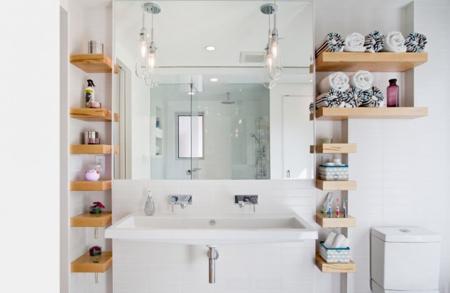 16 Inspirational Bathroom Storage Ideas That Combine