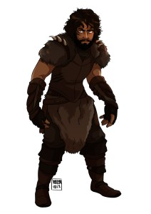 Abraxas Hillrunner - Character Drawing - White Background