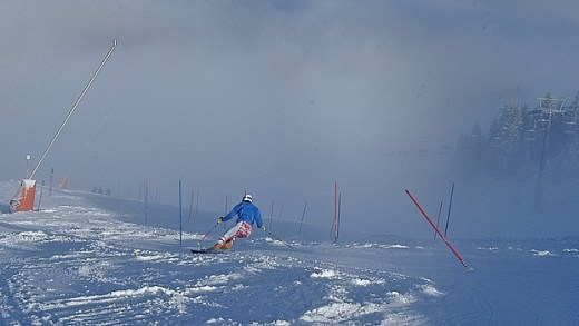 Resterhohe Slalom