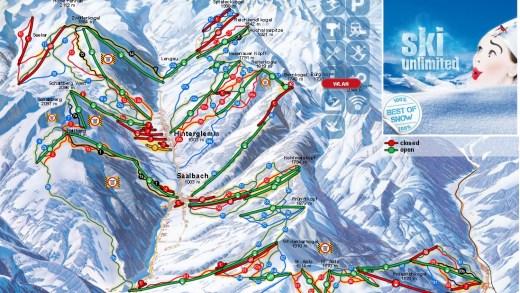 Open pistes Saalbach 3-12-2015
