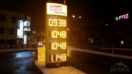 Inntal prijzen benzine diesel