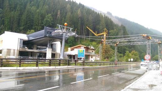 Schönleitenbahn: staalkabel is geïnstalleerd