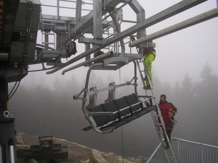 Panoramabahn inhangen stoeltje