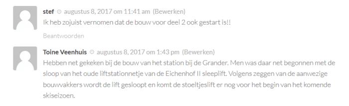 Reacties eichenhoflift