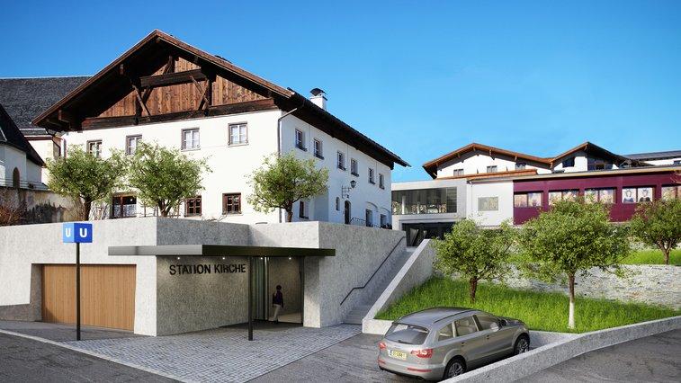 Station Kirche Dorfbahn Sarfaus