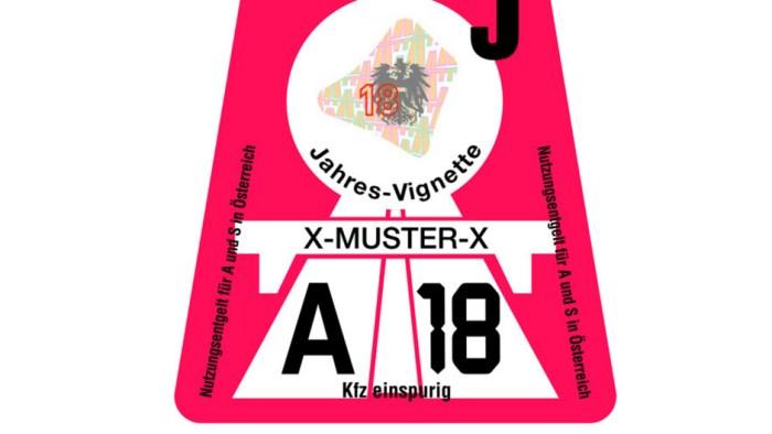 Oostenrijks Vignet 2018