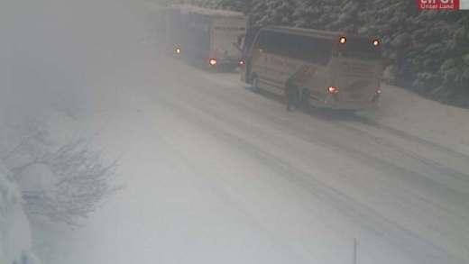 Weg sneeuwvrij Kitzbühel Pass Thurn