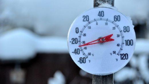 Zeer koud winterweer