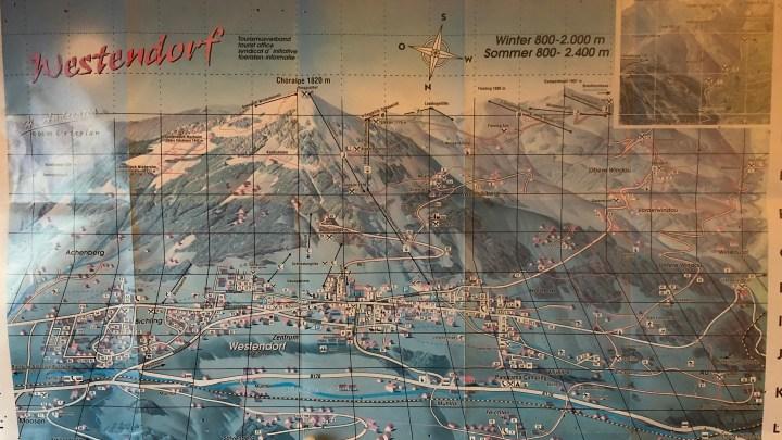 pistekaart skiwelt ca. 1997