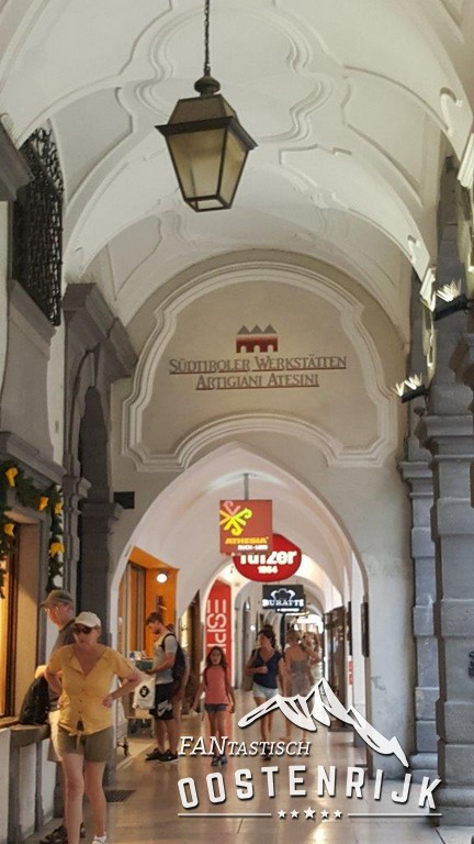 Prachtige galerijen in Bozen (Bolzano)