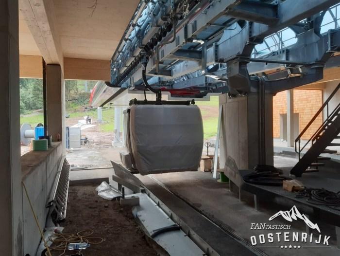 Kirchberg Fleckalmbahn nieuwe Gondel