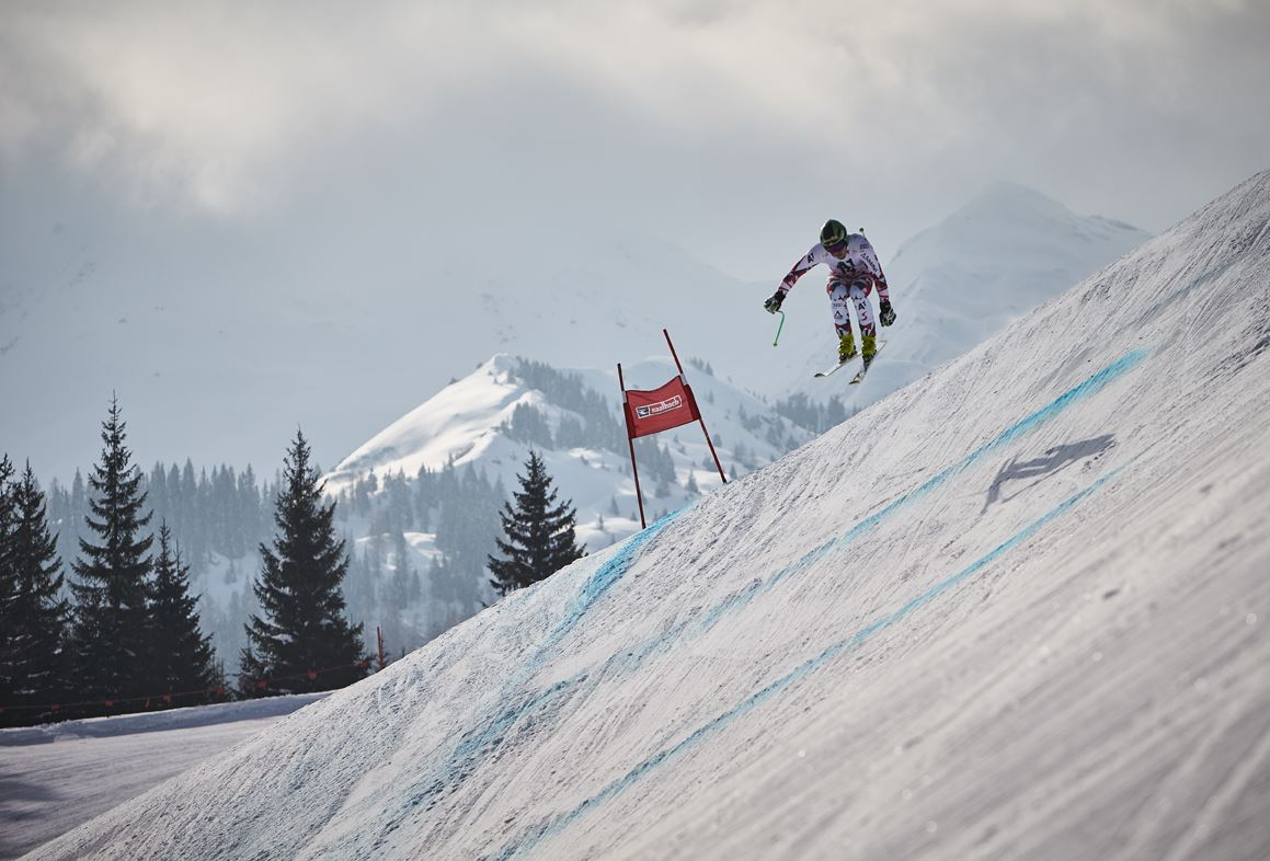 FIS Europacup_ Abfahrt der Herren in Saalbach Hinterglemm