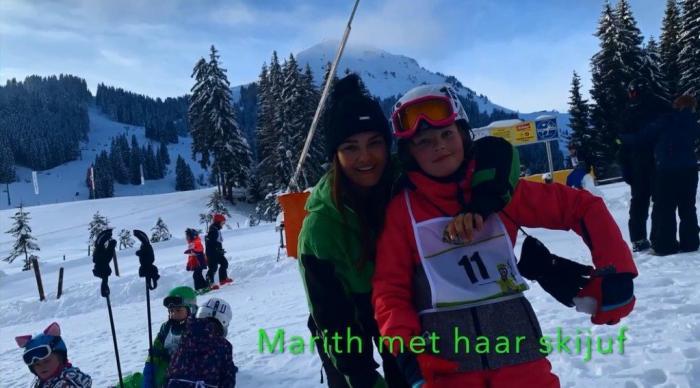 Marith met skijuf