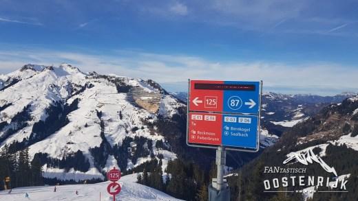 Tirol S grens Salzburgerland Tirol Saalbach Fiebebrunn