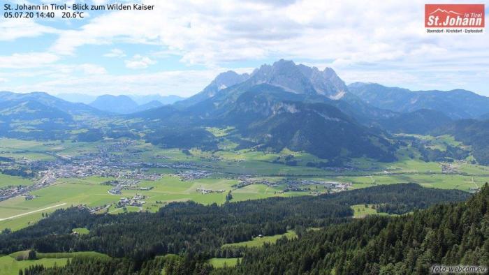 Wilderkaiser gezien vanuit St Johann in Tirol