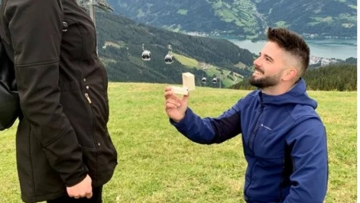 Michael Janssen aanzoek op de Schmittenhöhe